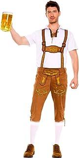 WanYangg Uomo Festa della Birra German Regolabile Le Bretelle Pantaloni, Bavarese Camicia Costume Tradizionale per Oktober...
