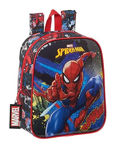 safta SpiderMan Go Hero Kinderrucksack, 220 x 100 x 270 mm, schwarz/rot