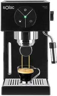 Solac S92011100 Ce4501 Squissita Cafetera, Doub Cream, Espresso y Cappuccino, 1 Cups, Acero Inoxidable, Multicolor