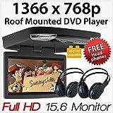 39,6cm HD Lecteur DVD de Voiture Toit montée Flip Down Moniteur écran Van Bus 24V 12V
