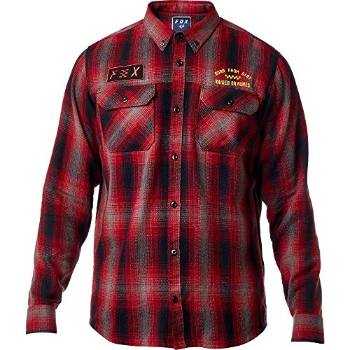 Fox Men's Gorman Overshirt, Dark Red, S