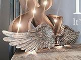 Par de alas del ángel de la querube adornado lamentable arte de la pared de la vendimia decoración colgante