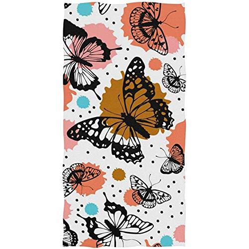 Weled Handtuch Kunst Malerei Tier Schmetterling, leicht saugfähiges Tuch Badetuch für Bad, Fitnessraum und Spa