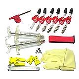 Walmeck Kit de Purga de Freno de Disco hidráulico de Bicicleta Kit de Purga de Freno de Bicicleta
