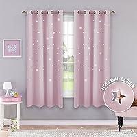 cortinas rosas con estrellas