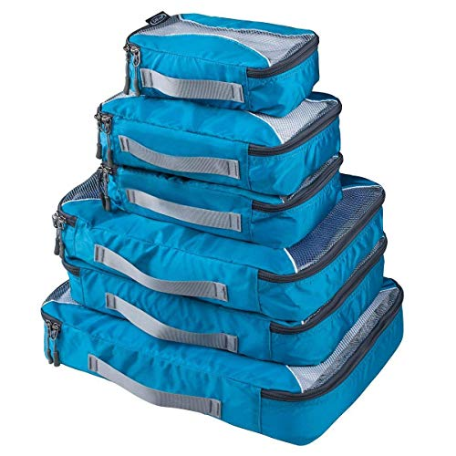 G4Free 3pcs/6pcs/7pcs Packing Cubes Suitcase Organiser Packing Bags Luggage Organiser Value Set for Travel Home Storage
