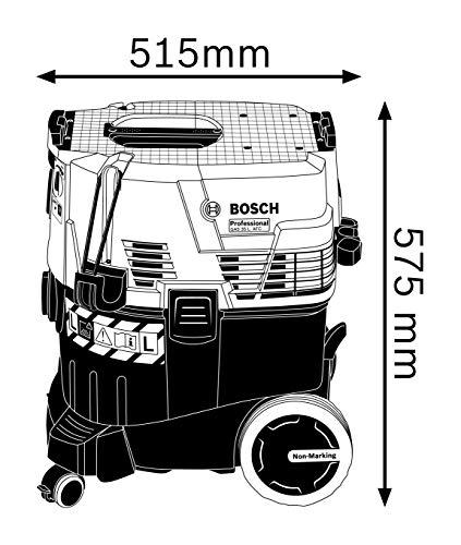 Bosch Professional GAS 35 L AFC - Aspirador seco/húmedo (1380 W, capacidad 35 l, clase polvo L, 254 mbar)