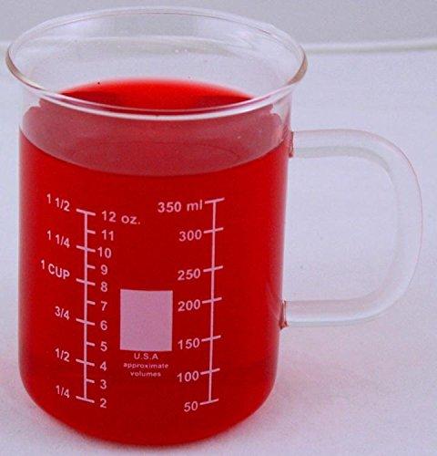 400ml Glass Beaker Mug Dual Scale