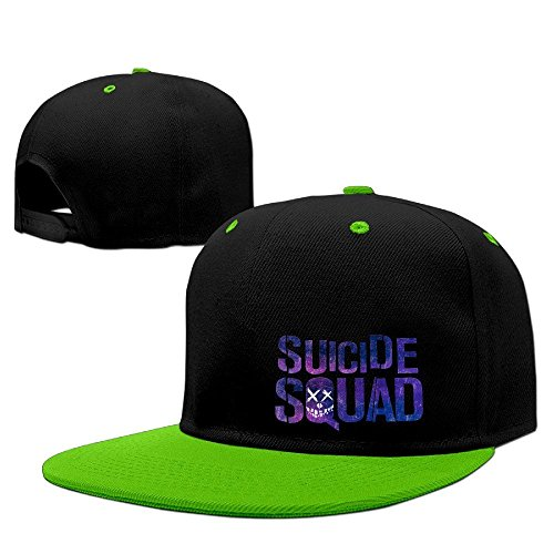 Hittings Suicide Squad Logo Baseball Adjustable Hip Pop Cap Hats Unisex,Men and Women Red Kellygreen