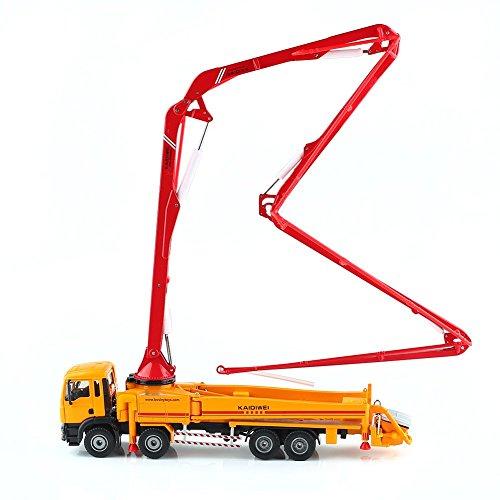 KAIDIWEI 車模型 コンクリートポンプ車 重機 ポンプ車 高品質 1/55スケール 合金製 オレンジ モデルカー 工...