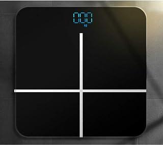 TeRIydF Báscula de Vidrio para baño, báscula de Grasa, LCD, Carga USB, báscula electrónica Inteligente, báscula, báscula Digital
