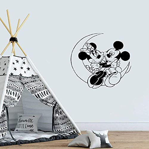 Mickey Mouse Minnie Mouse Sticker Mural AutocollantsMickey Minnie Mouse Lune Enfants Stickers Muraux Stickers Bricolage Wall Art Autocollant Decal Décor À La Maison Chambres
