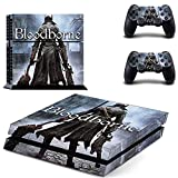 Pegatinas de vinilo FENGLING Game Bloodborne Ps4 Play Station 4 Skin Ps 4 calcomanía Cover para Playstation 4 PS4 consola y controladores Skins