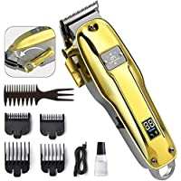 OriHea Cordless Professional Barber Hair Clippers with LED Display and Rechargeable 2200mAh Battery