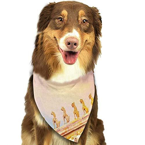 YAGEAD Hund Bandana Welpe und Haustier Bandanas, Dach der Halle Harmonie am Verbotenen Stadt Peking Haustier Schal