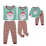 Juego de pijamas a juego con diseño de Papá Noel clásico de cuadros de Papá Noel PJ Sets de pijama para fiestas para parejas y niños Verde verde S