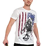 Assassin's Creed III Connor Kenway T-Shirt Burned Flag Small Size S