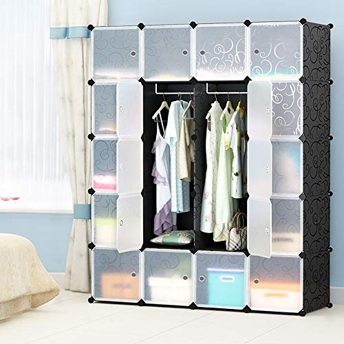 MEGAFUTURE JOISCOPE Portable Wardrobe for Hanging Clothes, Combination Armoire, Modular Cabinet for...