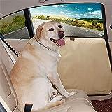 DOGLEMI ペット用ドライブシート、サイドドア保護カバー 2枚セット、ドアプロテクター、車内ドアを爪傷 擦り傷 汚れから強力に防ぐ 洗濯簡単 カー用品 左右セット 犬用 猫用(ベージュ)