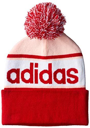 Adidas Linear Woolie muts, dames, rood (scarl/oranje/wit)
