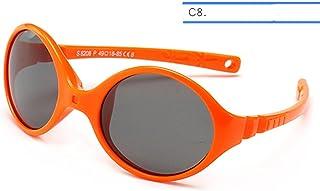 XMYNB - Gafas Sol niños 0-3 Gafas De Sol De Bebé Recién Nacido Niños Pequeños Gafas De Sol Niñas Sin Tornillo Caucho Irrompible Marco De Silicona Lente Polarizada