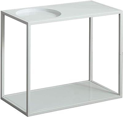 GLJ Einfache Couchtisch Nordic Wohnzimmer Massivholz Moderne Kleine Wohnung Japanisch Kreative Weiße Einfache Kleine Teetisch Rund Klapptisch Möbel & Wohnaccessoires Farbe : Weiß