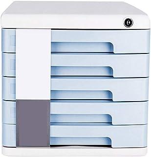 RUCC Petit meuble bas de rangement de bureau avec le classeur de verrouillage (Color : Blue)