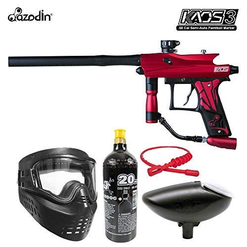 Maddog Azodin KAOS 3 Bronze Paintball Gun Marker Starter Package - Red/Black