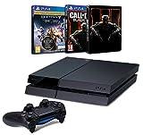 Contenu : Pack PS4 500 Go C Noire + Destiny : Le Roi Des Corrompus Call of Duty : Black Ops III + Steelbook exclusif Amazon