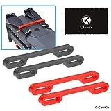 CAMKIX Juego de Bloqueo de hélice Compatible con dji Mavic Pro / Platinum (2X Rojo + 2X Negro) – Mantiene a Ambos Pares de hélices bloqueadas en una posición paralela Fija e