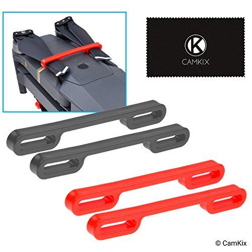 Camkix Kit Blocco Eliche Compatible con DJI Mavic Pro/Platinum (2x Rosso + 2x Nero) - Mantiene Entrambe le Coppie di Eliche Bloccate in Posizione Parallela Fissa