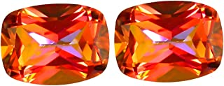 3.38 ct (2pcs) MATCHING PAIR Cushion Shape (8 x 6 mm) Azotic Ecstacy Topaz Natural Gemstone