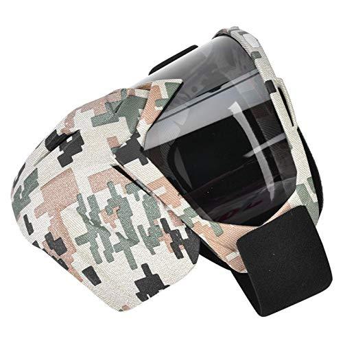 Helmbrillenmaterial TPU + PC Hochfeste Motorradbrille UV-beständig(Camouflage-Gray Flake)