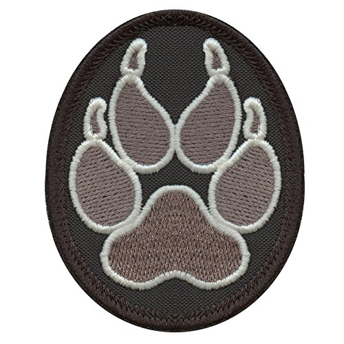 ACU Subdued K-9 Paw K9 Handler Police Dogs of War Morale Army Gear Embroidery Touch Fastener Patch