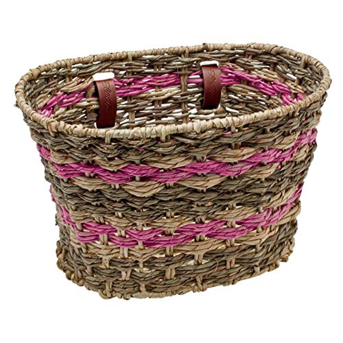 Electra Bicycle Electra Fahrradkorb Woven Basket Palm, pink gestreift, 54171