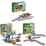 LEGO DUPLOTown PonteeBinariFerroviari + Il Grande Treno Merci + Binari Ferroviari