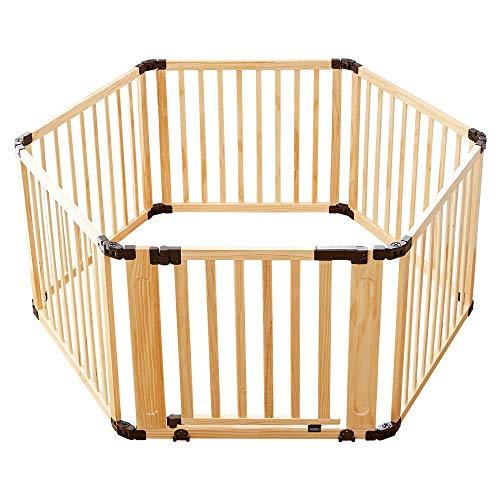 日本育児『たためる木製サークル フレックスDX』