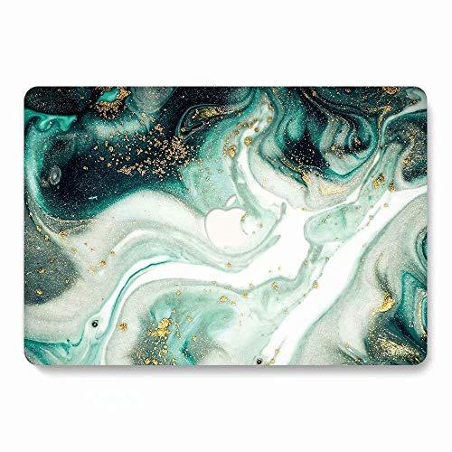 Aqylq matte Plastik-Schutzhülle für MacBook Air 13 Zoll / 33,78 cm Modell A1466 / A1369, 751 lila Blumenmotiv DL71 green marble Macbook Air 13 (A1369/A1466)