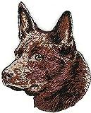 2'' x 2 1/2'' Red Australian Kelpie Portrait Dog Breed Embroidery Patch