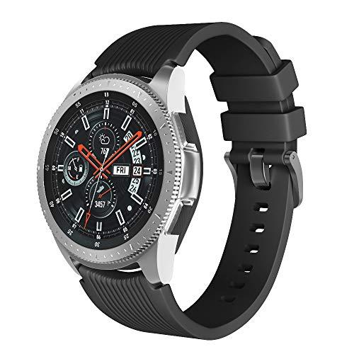 Pulseira extra para Samsung Gear S3/ Galaxy Watch 46mm (Preto Rajado)