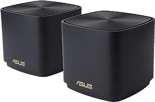 ASUS XD4 WiFi Mini wireless router Gigabit Ethernet Tri-band, AX1800 WiFi 6, 2.4 GHz/5 GHz, 2x Gigabit LAN, Pack of 2 - Black