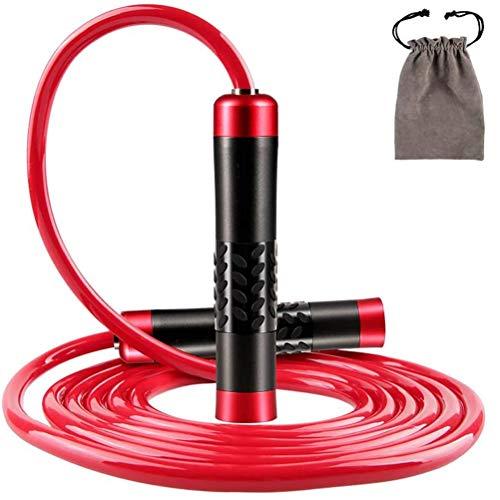 WMMDM Cuerda de Saltar la Cuerda de Salto de la Aptitud Velocidad Boxeo Aptitud del Ejercicio de los Entrenamientos del Gimnasio Quema de Grasas (Color : Red)