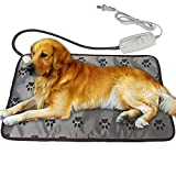 XXL Dog Heating Pad for Large Dog Bed Indoor,Waterproof Heated Dog Bed Mat,Pet Heating Pad,Heated cat Bed mat,Heated mat for Small Medium Pet Cat Puppy Dog Blanket,King Size (Grey, Claw)