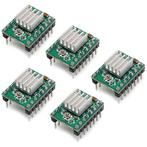 Timagebreze A4988 Compatible StepStick Stepper Motor Submersible Module with Radiator for 3D Printer Controller Ramp (Pack of 5)