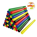 "Craft Glue Gun Sticks, Lifegoo 50 pcs Color Hot Melt Adhesive Gule Stick Long 7.5""&Diameter 0.4"" Compatible with Most Glue Guns for DIY Craft Projects and Sealing in Home Office Art Creation -Color"