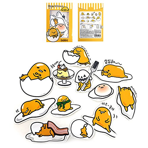 Sanrio Gudetama Lazy Egg Big Jumbo Deco Stickers (12pcs 1 Pack) (VER.3) by Gudetama