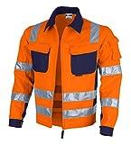 Qualitex Warnschutz-Jacke PRO MG 245 - orange/marine - Größe: S