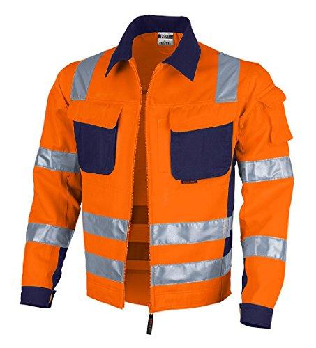 Qualitex Warnschutz-Jacke PRO MG 245 - orange/marine - Größe: 4XL