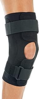 FitPro Wraparound Hinged Knee Stability Brace, Small, Amazon Exclusive Brand, Black