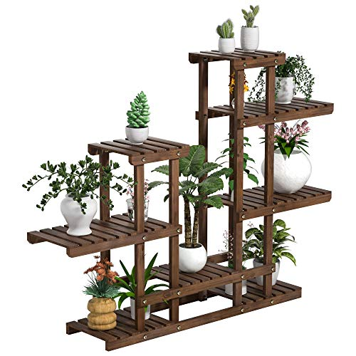 Yaheetech -   Pflanzenregal Holz,